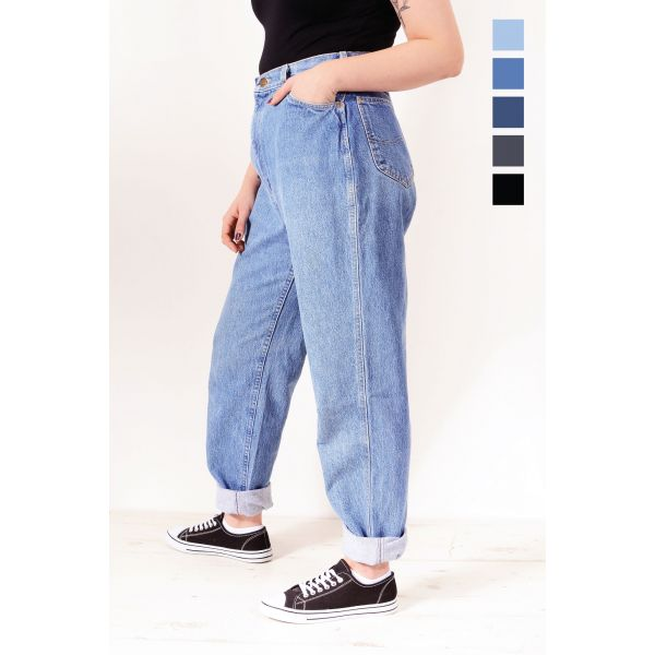 LEE High Waisted (Plus Size) Relaxed Tapered Mom Jeans Various Colours & Sizes